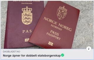 Norveç'te çifte vatandaşlık hakkı başlıyor