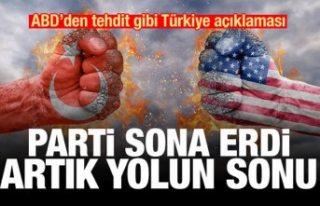 ABD'den Türkiye'ye tehdit: Parti bitti,...