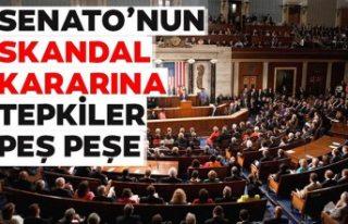 Türkiye'den ABD Senatosu'nun skandal kararına...