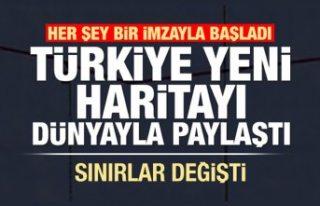 Sınırlar değişti! Türkiye yeni haritayı dünyaya...