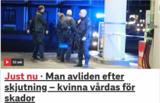 Haninge'de vurulan genç öldü