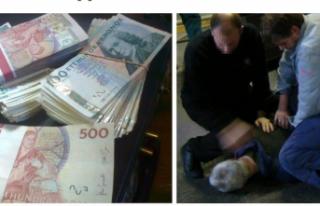 İsveç'te 2,5 milyon kronu yurt dışına çıkarırken...