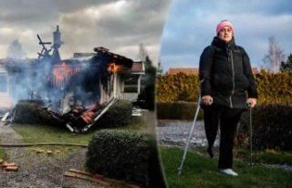 İsveç'te evi yanan kadın çaresiz! Hem sigorta...