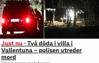 Stockholm'de bir villada iki ölü bulundu