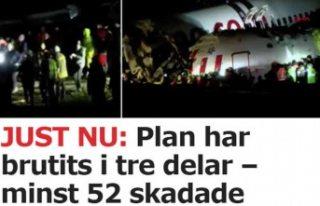 İsveç'te medyası İstanbul'daki uçak...