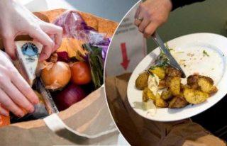 İsveç'te yılda en az 200 ton yiyecek bakın...