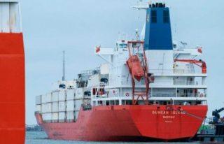 İsveç'ten geçen dev gemiye: Danimarka'da...