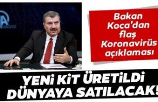 Türkiye'nin ürettiği Koronavirüs kiti dünyaya...