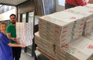 İsveç'te sağlık çalışanlarına pizza ikram...