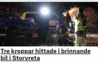 İsveç'te yanan araçta üç ceset bulundu