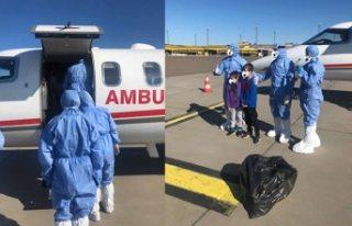 Ambulans uçak ve Türk doktorlar İsveç'te:...