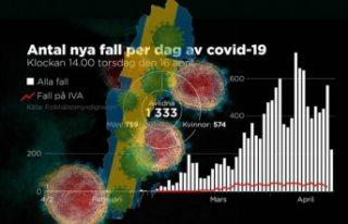 İsveç'te vaka sayısı 12 bin 500 geçti işte...