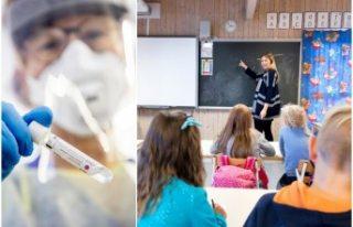 Stockholm'daki ilkokulda çıkan koronavirüs...