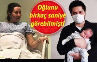 Koronavirüse yakalanan ve 34 haftalık bebeği sezaryenle...