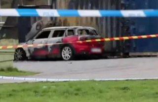 Stockholm'de yanan araçta bir kişi ölü bulundu