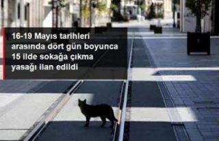 Türkiye'deki 15 ilde 4 günlük sokağa çıkma...