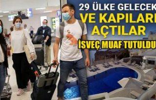 29 ülkeye kapılarını açan Yunanistan, İsveç'i...