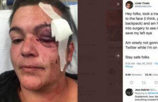 İsveçli gazeteci ABD gösterilerinde polis saldırısına...