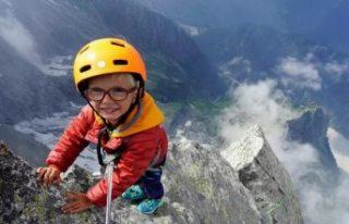 3 yaşındaki çocuk, 3308 metre yükseklikteki Piz...