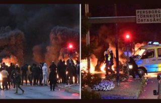 Danimarkalı ırkçı İsveç'i yangın yerine...