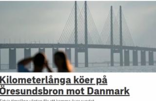 İsveç Danimarka arasında rekor trafik