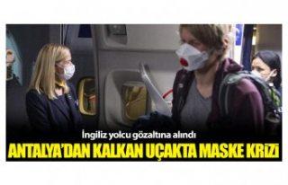 Antalya'dan kalkan uçakta maske krizi! Uçak...