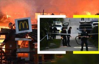 Çıkan yangında yok olan Stockholm'deki McDonalds'ın...