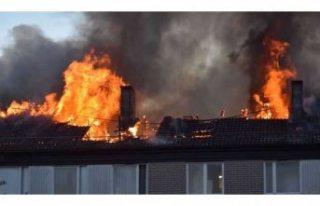 Linköping'de çıkan yangın korkuttu