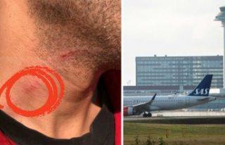 Arlanda havalimanında boğuşmaca!