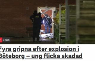 Göteborg'de patlama: 4 kişi gözaltına alındı