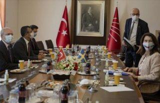 Kılıçdaroğlu, İsveç Dışişleri Bakanı Linde...