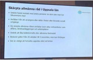 Uppsala bölgesinde artan vakalar üzerine kısıtlamalar...