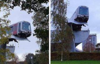Hollanda'da raydan çıkan metro, balina kuyruğu...
