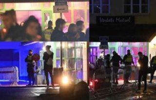 İsveç polisi parti yapmak için toplanan yüzlerce...