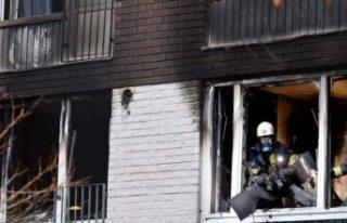Stockholm'de altı katlı binada büyük yangın