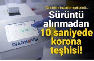 PCR testlerine Türkiye'den rakip geldi: 10 saniyede...