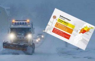 İsveç'te yoğun kar yağışı devam ediyor