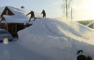 İsveç'teki bazı bölgelerde kar kalınlığı...
