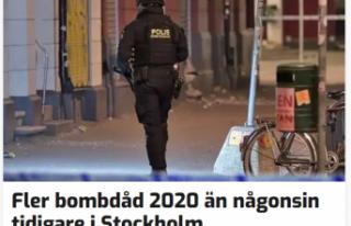 Stockholm'de rekor sayıda bomba patladı