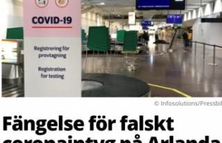 İsveç'te sahte Kovid-19 testi ile yakalanan...