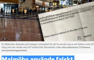 İsveç'ten Türkiye'ye sahte Kovid-19 testi...