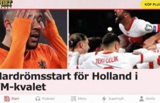 Türkiye'nin Hollan'da galibiyeti İsveç...