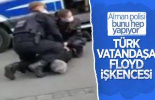 Alman polisinden Türk vatandaşa 'George Floyd'...