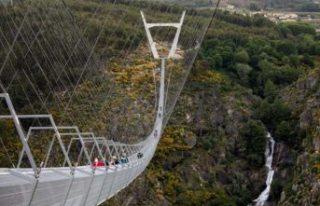 Dünyanın en uzun asma yaya köprüsü açıldı