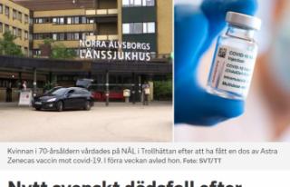 İsveç'te AstraZeneca aşısı olduktan sonra...