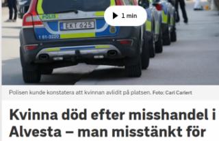 İsveç'te bir kadın öldürüldü