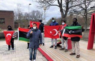 İsveç'te yaşayan Libyalılardan Türkiye'ye...