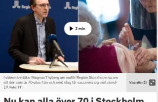 Stockholm'de 70 yaşı üzerindeki insanlara...