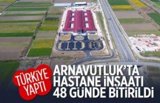 Türkiye sözünde durdu, Arnavutluk'ta 48 günde...