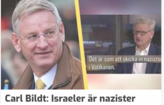 Bildt, İsrailleri Nazilere benzetti